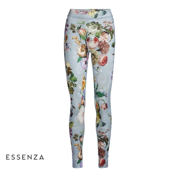 Rue Fleur Leggins long - blumige Sport-Pants von Essenza in Faded Blue