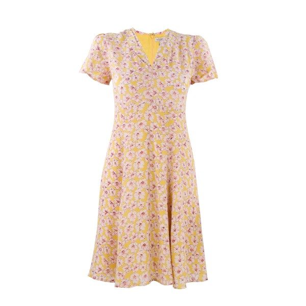 Feminines Kurzarm Kleid mit Streublumen von by Ti-Mo in Fresh Flowers