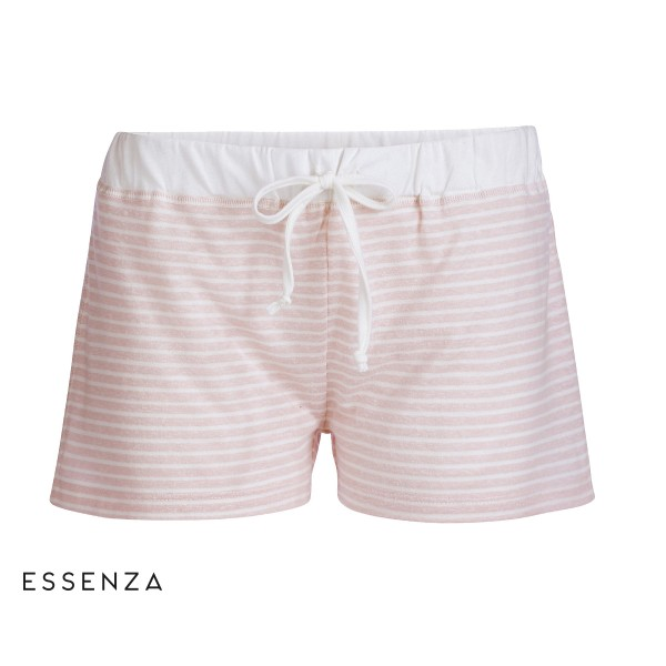 Roques Stripe Trousers short - weiche Jersey-Shorts von Essenza in Rose