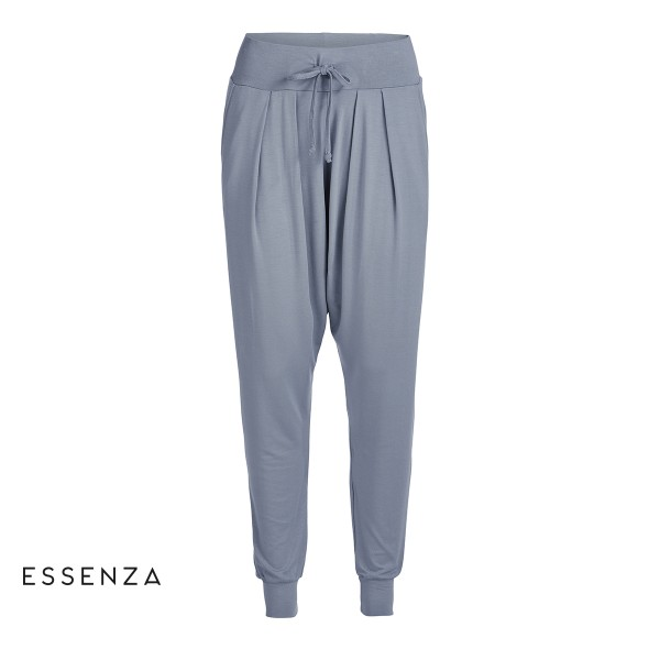 Amethyst Uni Trousers long - weite Baggy-Pant von Essenza in Faded Blue (Grau)