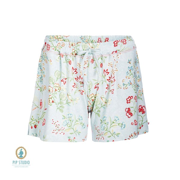 Bob jaipur flower Trousers short von Pip Studio in Blue Türkis
