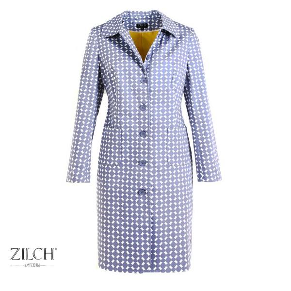 Retro Von Zilch Unterlegtem Baumwollsatin Aus In Beads Lavender Mantel 3ARjq4L5