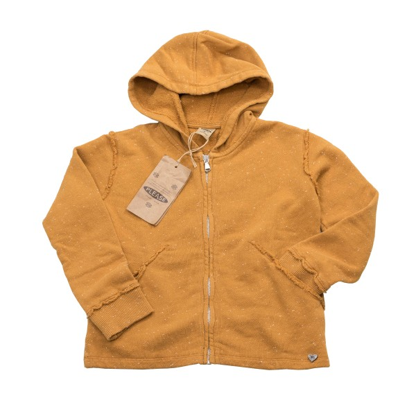 Coole Sweat-Jacke mit Kapuze für Girls von Please Kids in Ochre