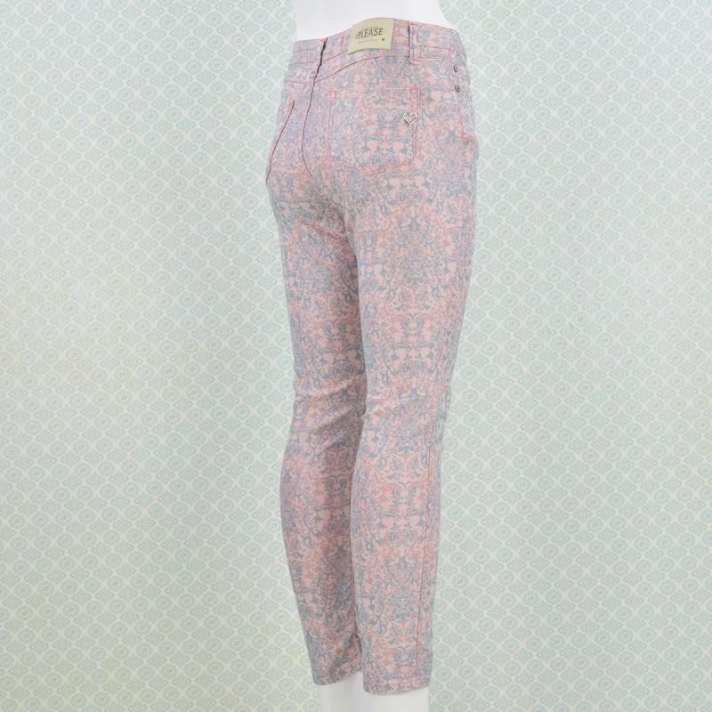 p78 skinny jeans mit retro muster von please in tourmaline - Jeans Mit Muster
