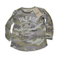Langarm-Shirt für Boys im Camouflage-Look von Please Kids in Verde Foresta